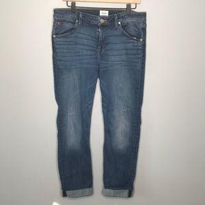 Hudson Jeans Bacara crop straight cuff jean sz 32